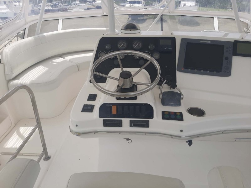 Helm View Behind Captain's Chair