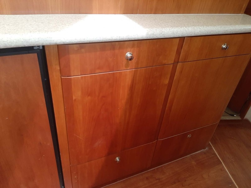 Storage And Counter Space On Back Side Of Galley
