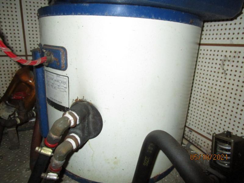 49' Grand Banks water heater