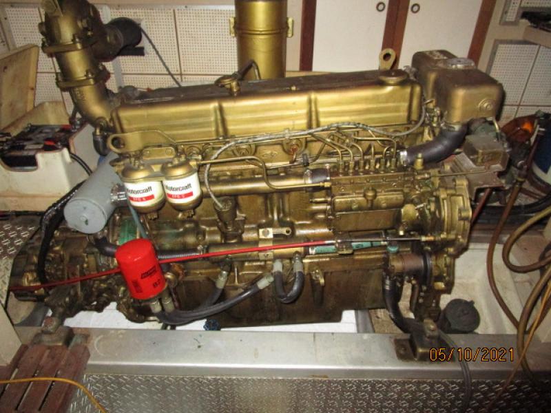 49' Grand Banks port main engine