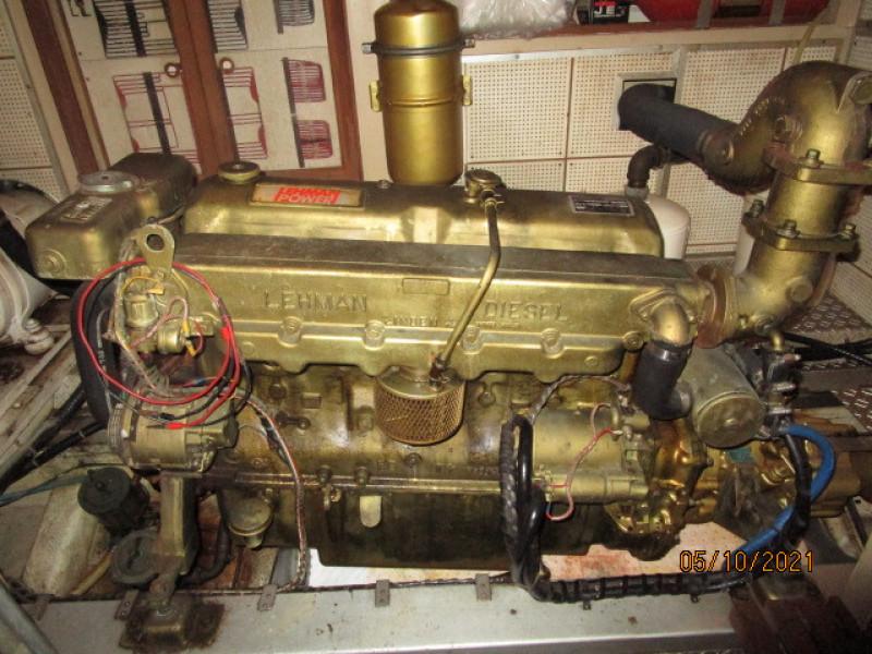 49' Grand Banks starboard main engine