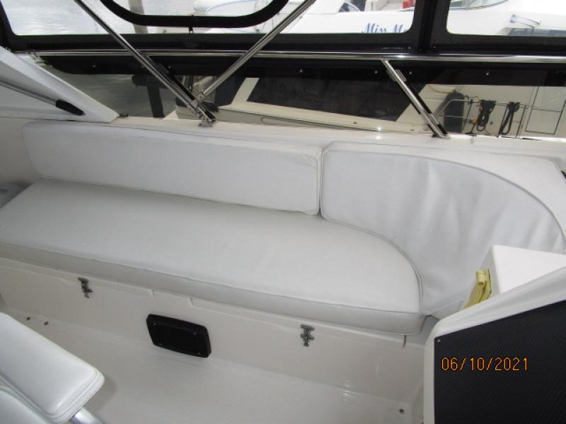 55' Symbol flybridge port seating