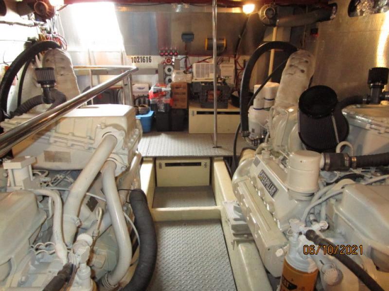 55' Symbol engine room aft