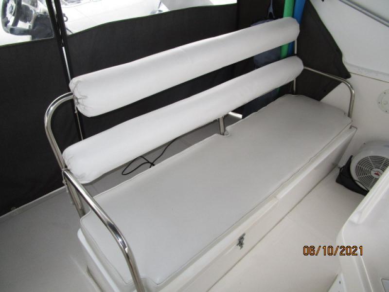 55' Symbol flybridge aft seating