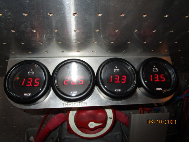 55' Symbol battery bank voltage gauges
