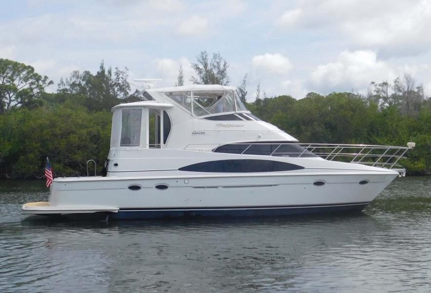 Carver-444 Cockpit Motor Yacht 2001-Happiness Merritt Island-Florida-United States-Main Profile-1706140-featured