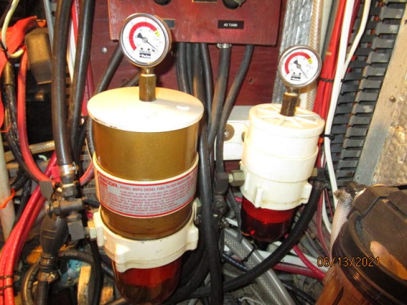 51' Morgan Racor fuel filters