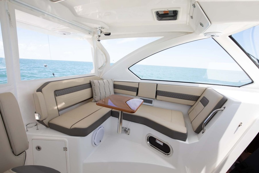 Port Side Seating with Table