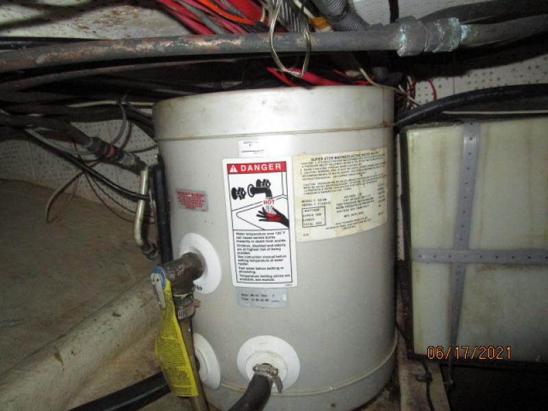 36' Kadey-Krogen water heater