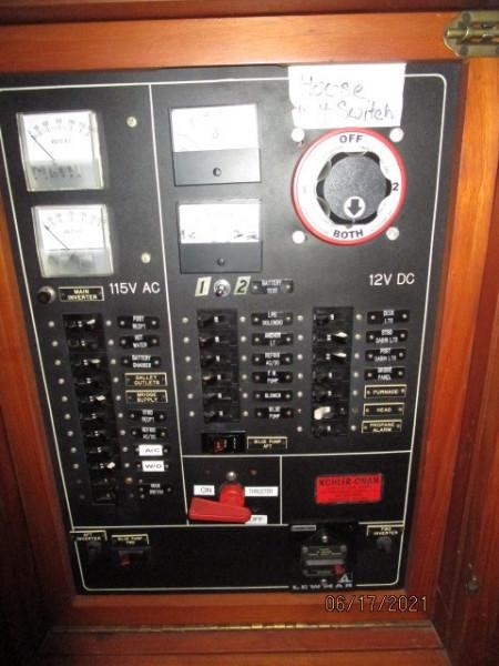 36' Kadey-Krogen electrical panel