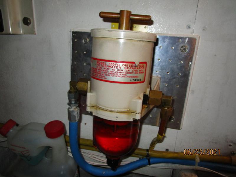 45' Symbol generator Racor fuel filter