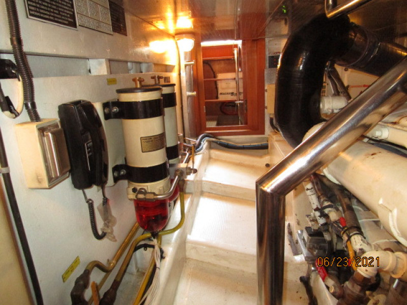 45' Symbol engine room starboard aft