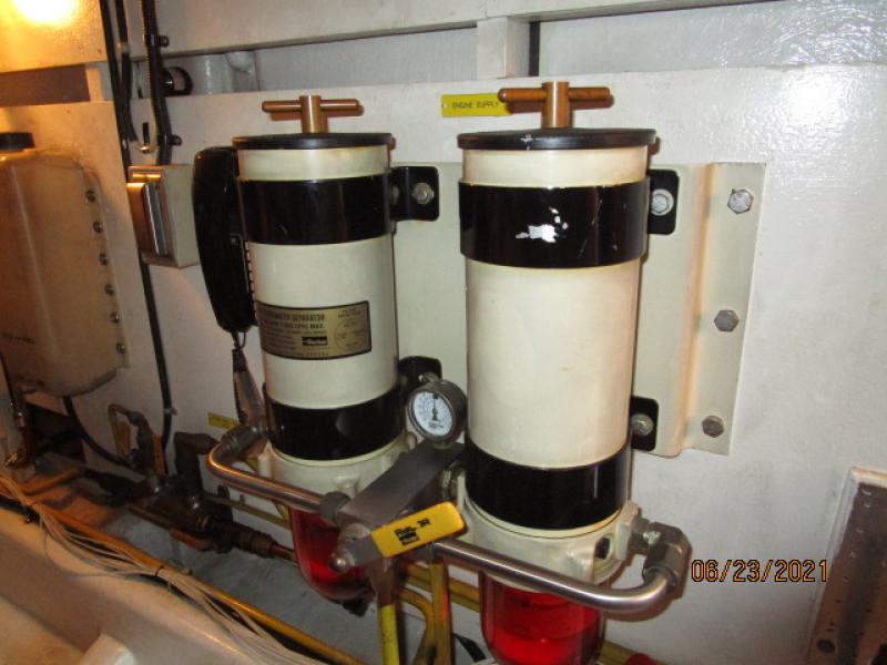 45' Symbol main engine Racor fuel filters