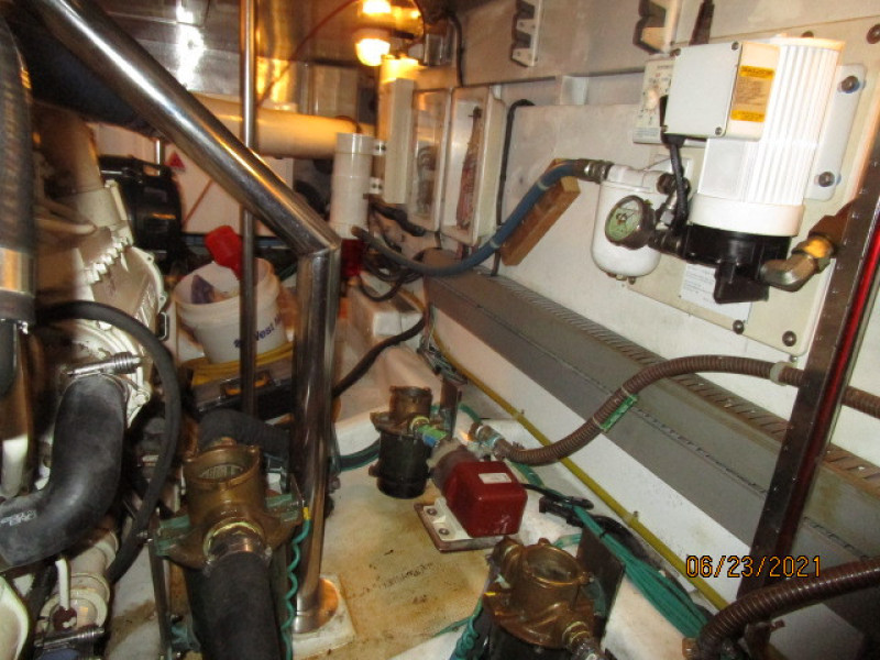 45' Symbol engine room port aft