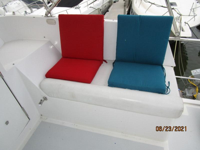 45' Symbol flybridge starboard seating