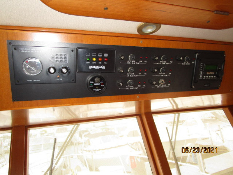 45' Symbol pilothouse helm overhead panel