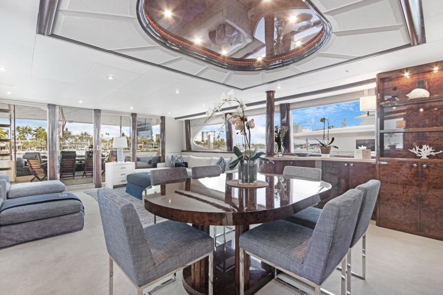 BELLA GIORNATA 94' Lazzara 2000/2018 Flybridge Motor Yacht: Main Salon Dining Area