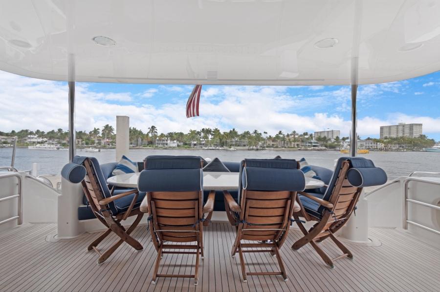 BELLA GIORNATA 94' Lazzara 2000/2018 Flybridge Motor Yacht: Aft Deck