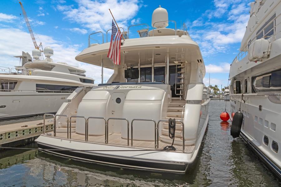 BELLA GIORNATA 94' Lazzara 2000/2018 Flybridge Motor Yacht:Swim Platform to Aft Deck