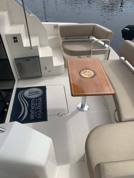 Cockpit with Custom Built Inlaid Table