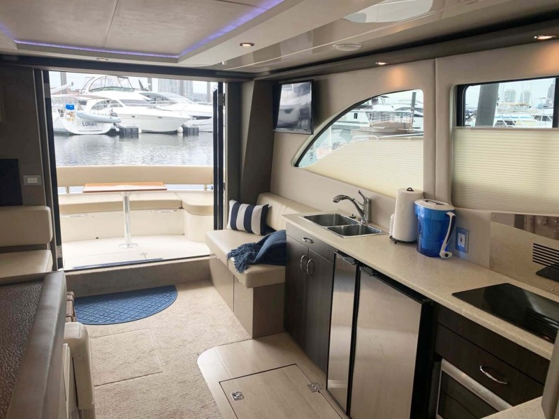 Salon and Galley Aft View