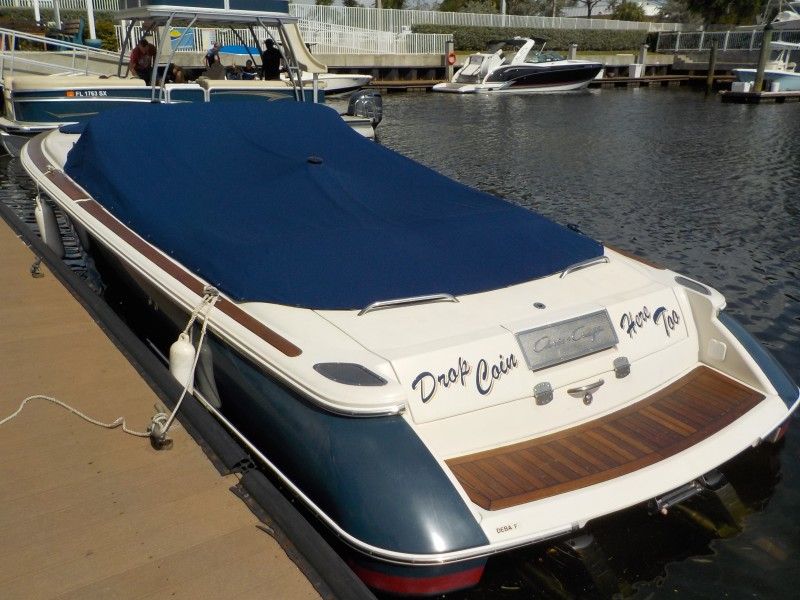 Chris-Craft - Drop Coin Here Too - Transom