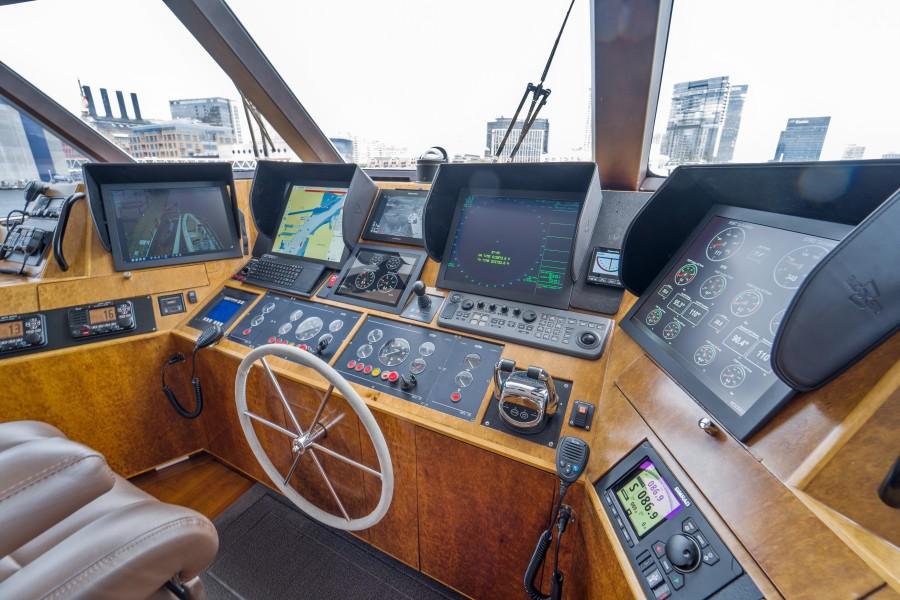 1997 Stephens 100 Tri-Deck - Bravo - Helm