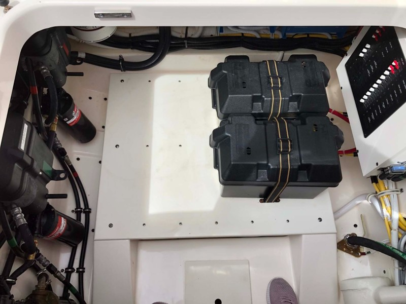 Batteries and Bilge Area