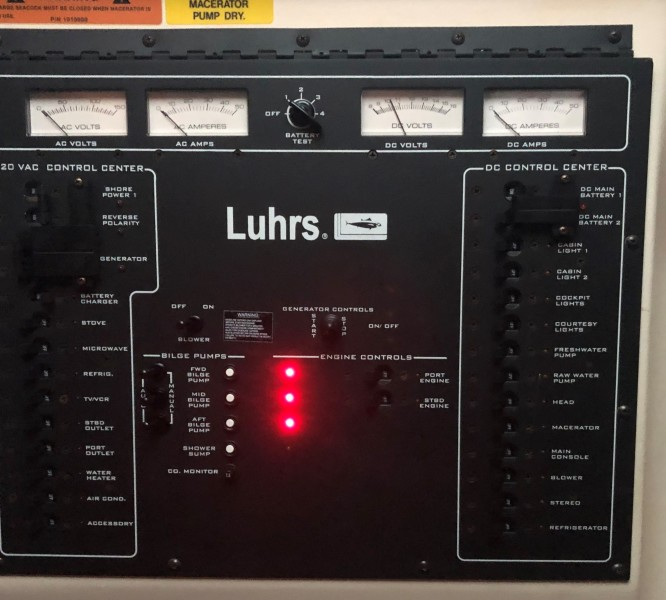 Luhrs 32 - Second Star To The Right - Breaker Panel