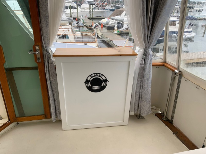 Aft Deck TV Cabinet With Lift And Surround Sound