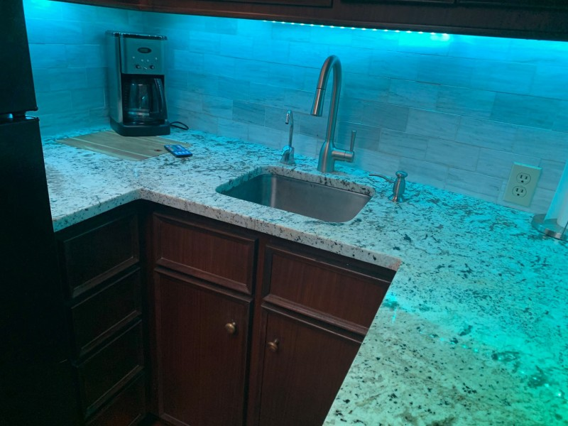Galley with Remote Controlled Multicolor LED Mood Accent Lighting