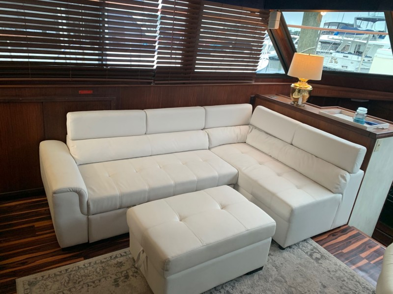 Salon Couch with Ottoman