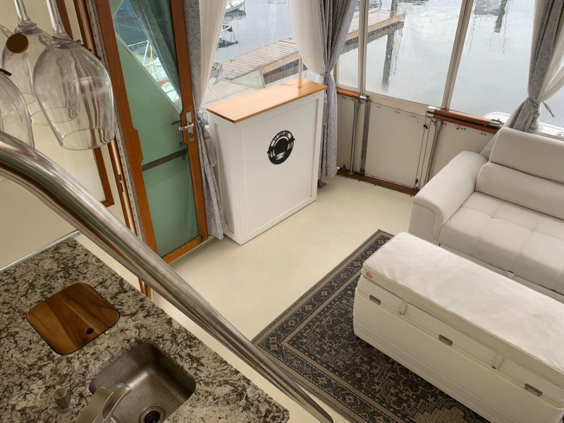 Aft Deck Stbd View From Bridge Steps