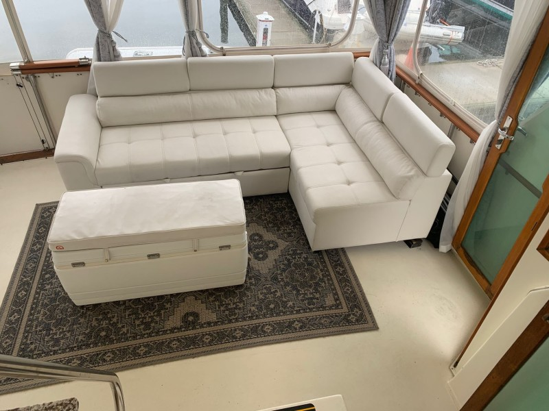 Aft Deck Sleeper Couch with Optional Cooler Ottoman