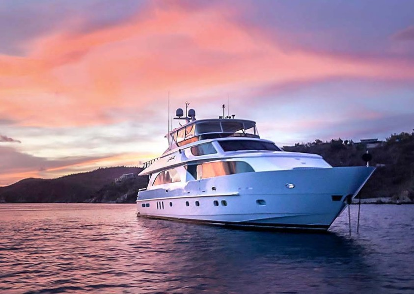 Starboard Bow At Sunset