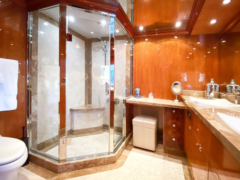 On Deck Master Stateroom Shower and Head