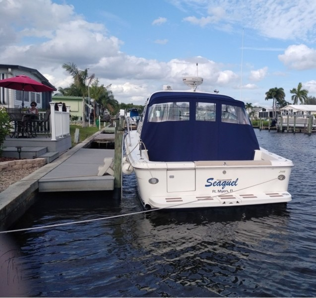 2001 Sea Ray 340 Amberjack Stern With Canvas
