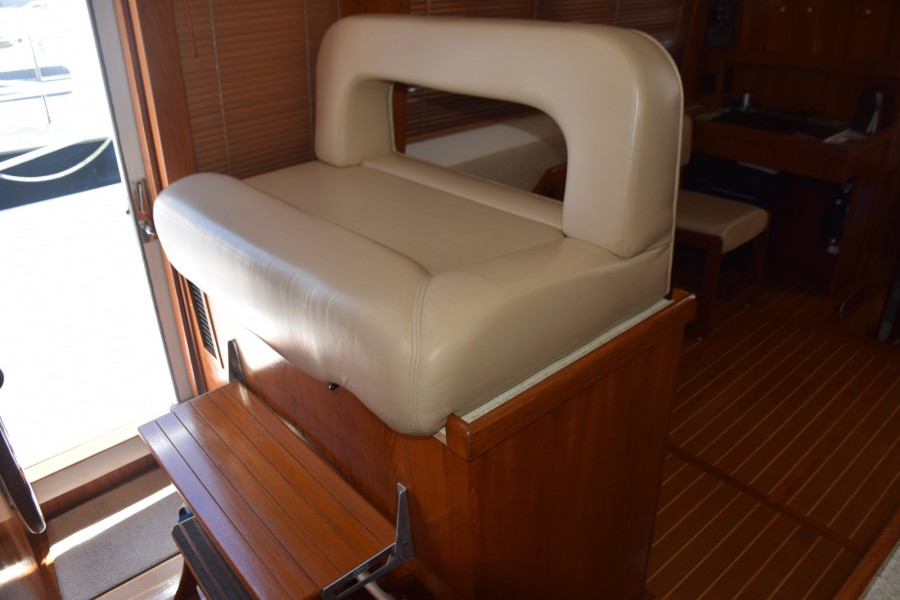 Lower helm Bench Seat, Freezer Storage below it
