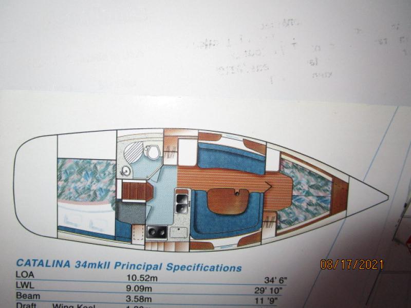 34' Catalina layout