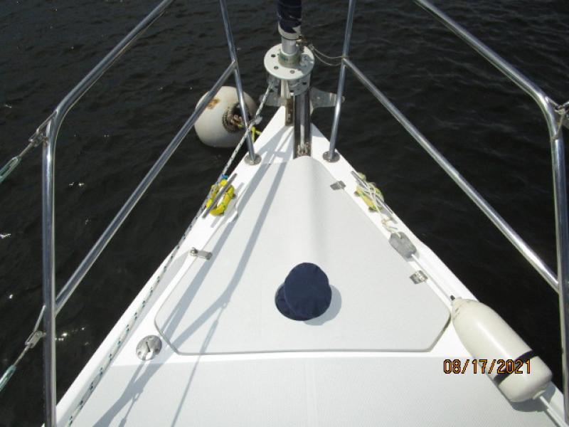 34' Catalina anchor windlass covered