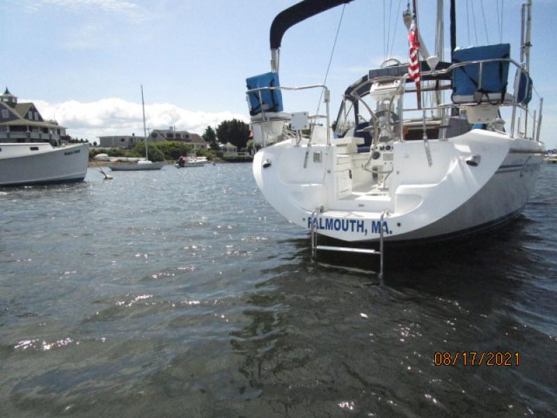 34' Catalina swimplatform