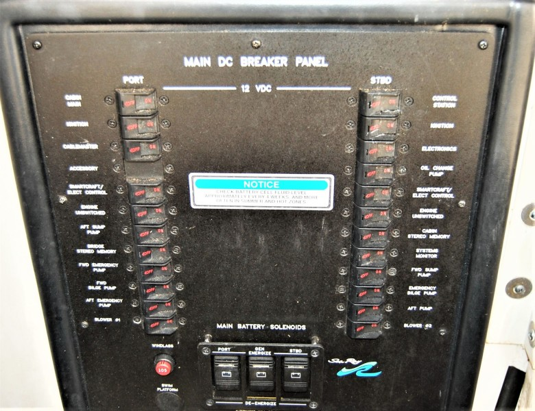Engine Room Circuit Breaker Panel