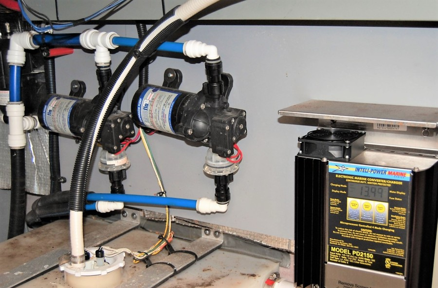 Water Pumps and Battery Charger