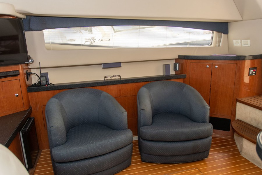 2 Overstuffed Barrel Chairs to Starboard