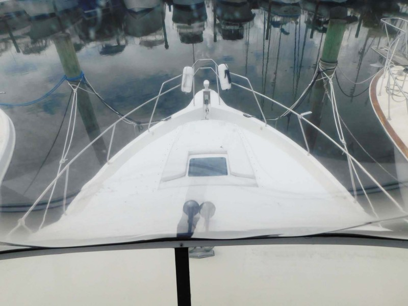 Foredeck View from Flybridge