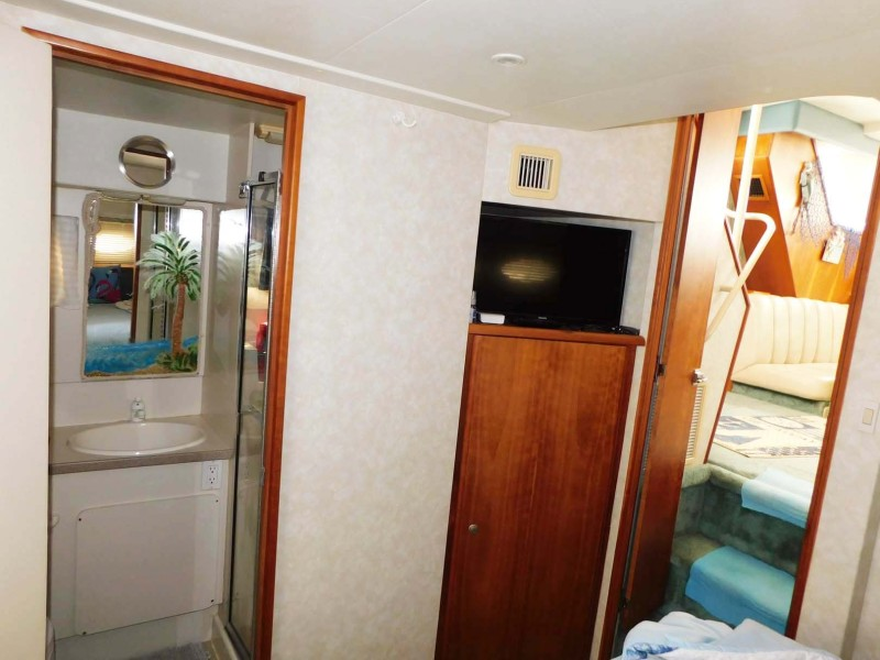 Master Stateroom TV and Head