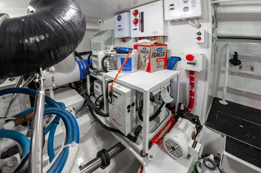 2018 Viking 48 - Engine Room
