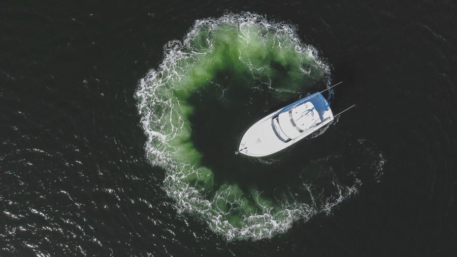 2021 38 Viking Billfish - Marie Beth - Aerial Profile