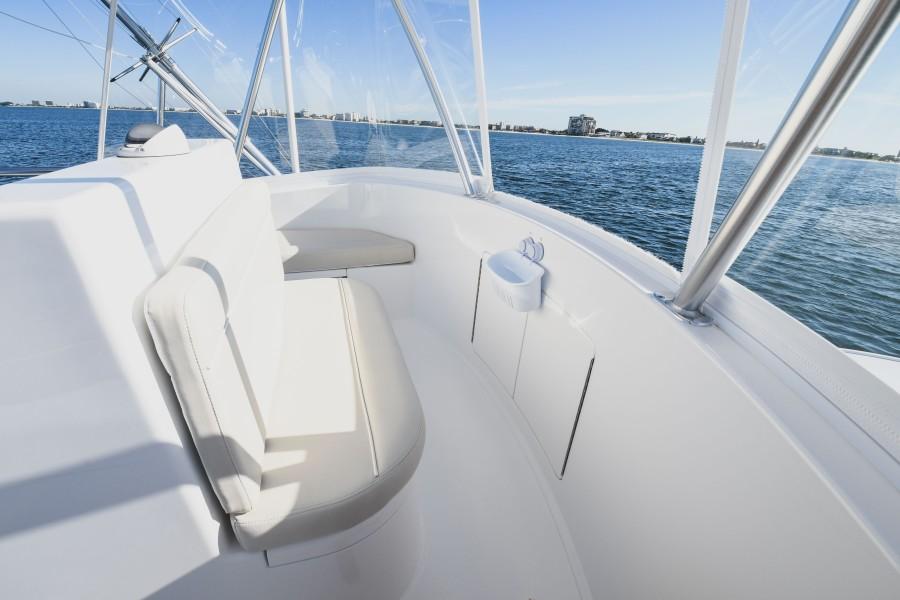 2021 38 Viking Billfish - Marie Beth - Flybridge Forward Bench Seat