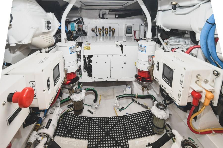 2021 38 Viking Billfish - Marie Beth - Engine Room